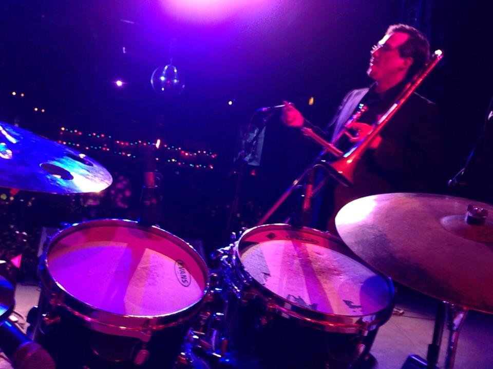 View from Vin Scialla's drumset during Street Beat's March show at the Broolyn Bowl.  Photo: Vin Scialla.